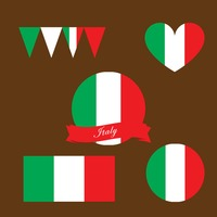 Collection of italy flag icons