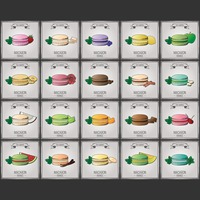 Collection of macaron wallpapers
