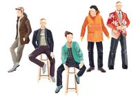 Collection of men in various clothing