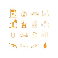 Collection of oil and gas related objects