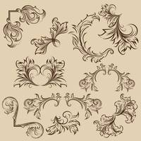Collection of ornamental frame designs