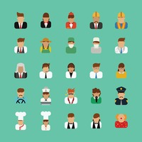 Collection of people and occupations