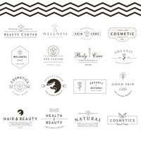 Collection of skin and beauty care labels