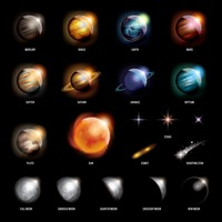 Collection of solar sysytem icons
