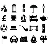 Collection of united kingdom icons