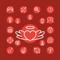 Collection of valentine icons