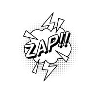 Comic bubble effect zap