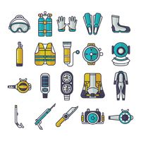 Compilation of diving gear