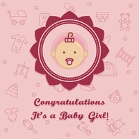 Congratulations it's a baby girl card