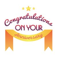Congratulations on you anniversary label
