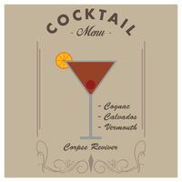 Corpse reviver cocktail drink