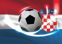 Croatia flag with soccer ball