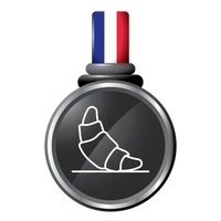 Croissant in a medal