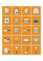Culinary and kitchen utensils icons