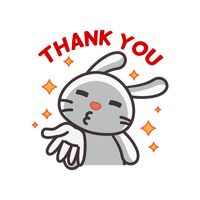 Cute rabbit saying thank you