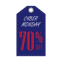 Cyber monday discount tag