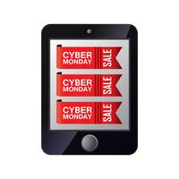 Cyber monday sale on computer tablet