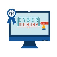 Cyber monday sale on monitor