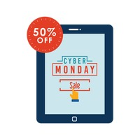 Cyber monday sale on tablet