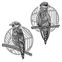 Decorative bird designs