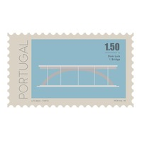 Dom luis i bridge postage stamp