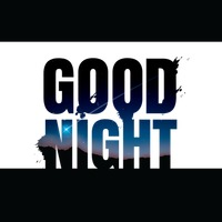 Double exposure of good night text with night landscape