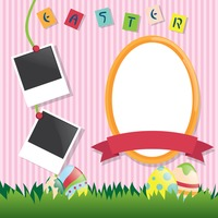 Easter card with photo frame