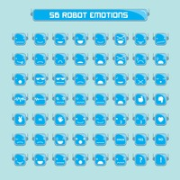 Emoticons of robot