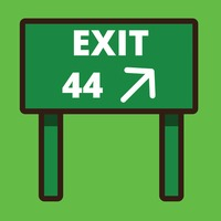 Exit road sign board