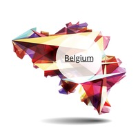 Faceted belgium map