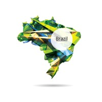 Faceted map of brazil