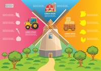 Farm and agriculture infographic