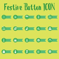 Festive button collection