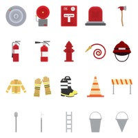 Firefighter icons
