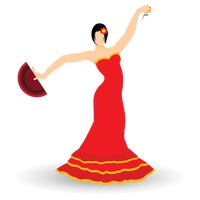 Spain flag and flamenco dancer Vector Image - 1565322 | StockUnlimited