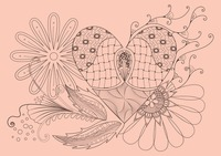 Floral heart shaped decorative design