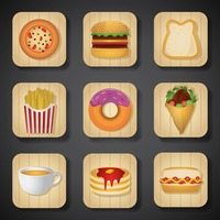 Food and beverage icon set
