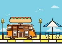 Food truck at beach