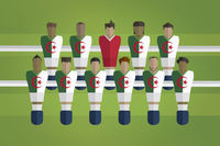 Foosball figurines represent algeria football team