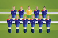 Foosball figurines represent australia football team