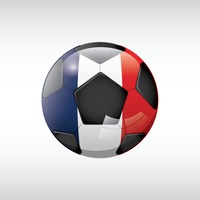 Football with france flag