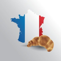 France map with croissant