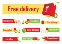 Free delivery labels collection