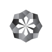 Geometric flower with black and white colours