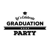 Graduation party banner Vector Image - 1549956 ...