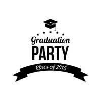 Graduation party label