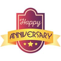 Happy anniversary label