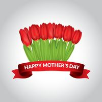 Happy mothers day tulip bouquet