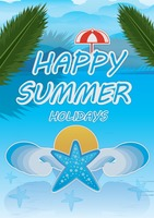 Happy summer holidays poster
