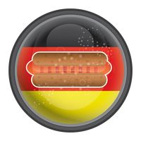 Hot dog with german flag icon